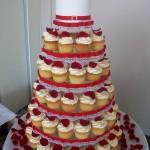 Red rose petal cupcakes