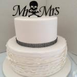 Ruffles and skeleton cake topper