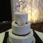 Three tier black and bling cake at parklands GC