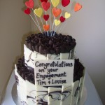 Tim & Louises engagement cake