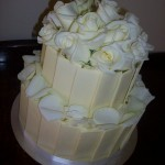 Two tier white roses