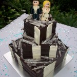 Two toned choc & cute topper