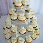 White singapore orchid cupcakes