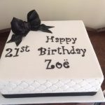Zoes 21st cake