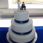 ball & chain cake topper on image cruises