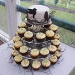 bird cupcake topper