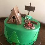 camping birthday cake - Copy