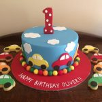 car theme cakes and biscuits - Copy