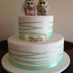 chloe and daves cute owl cake topper cake