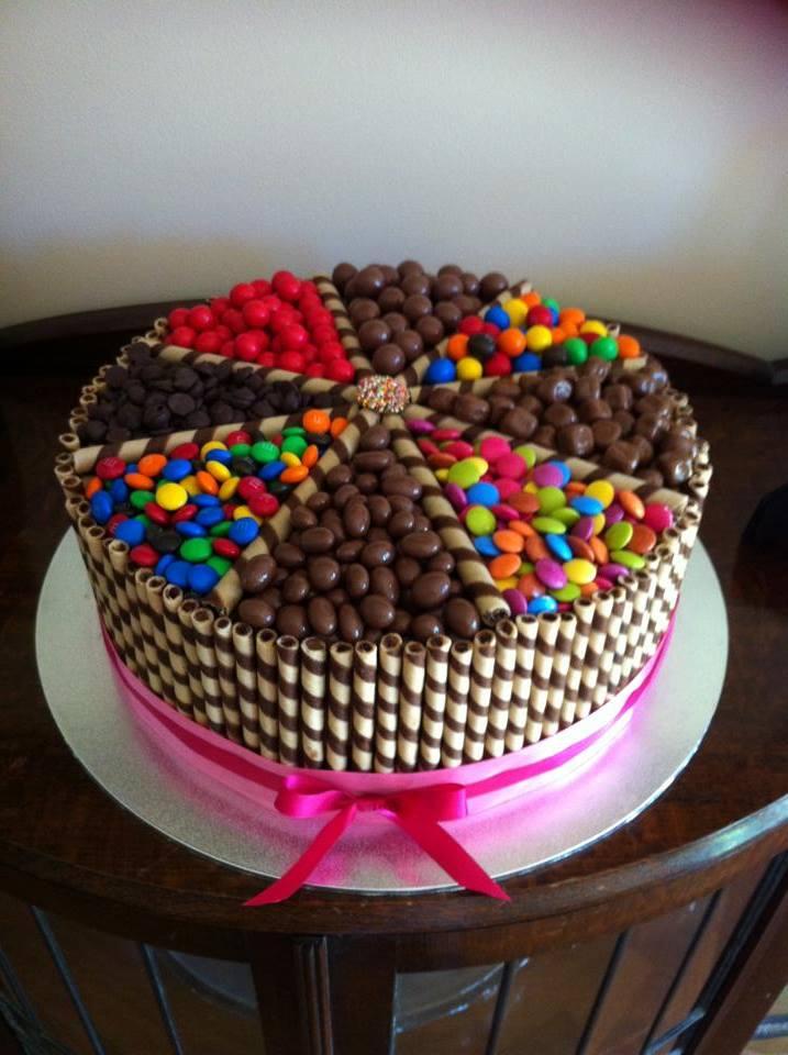 Choc Allsorts Cake Round