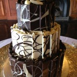 choc marbled cake