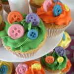 colourful button cupcake
