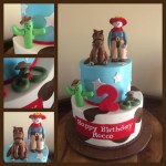 cowboy themed cake for Rocco's birthday