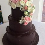 dark-chocolate-ganache-with-fresh-flowers