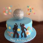disco themed cake - Copy