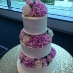 flower stack cake