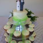 green love heart cupcakes