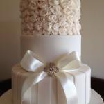 ivory ruffle cake