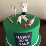 kanes cricket themed cake - Copy