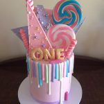 lollipop number one drip cake - Copy
