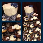 navy and white cupcakes at sirromet