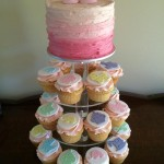 pastel cupcakes for baby shower