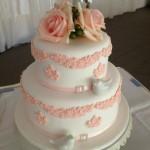 peach vintage cake