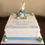 peter rabbit christening cake - Copy