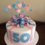 pink and blue bow cake - Copy
