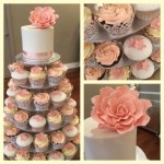 pretty pink and lace cupcake wrappers