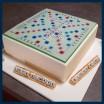 scrabble cake board