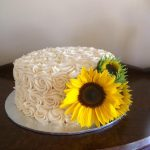 sunflower swirl cake