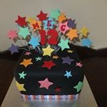 tn_Black fondant with rainbow coloured stars
