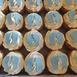 tn_Cute baby blue feet cupcakes