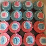 tn_Pink & Blue Baby cupcakes