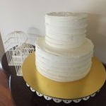 tn_Softstriped  iced two tier cake