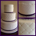 white fondant lace detail