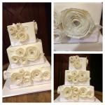 white frill fondant rosettes