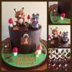 woodlands themed cake